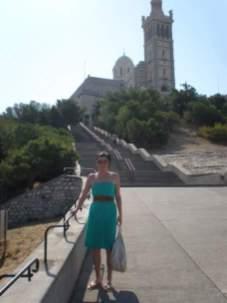 Me outside Marseilles Notre Dame de la Garde