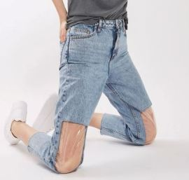Topshop clear knee jeans 2