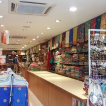 Inside sari shop in Brickfields
