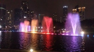 KLCC park fountains light show 11