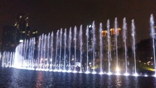 KLCC park fountains light show 6