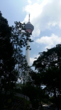 Looking up at KL Tower