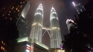 Petronas Towers at night 3