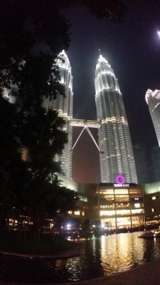 Petronas Towers at night 6