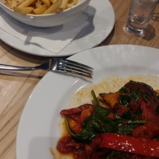 Prezzo Chicken Calabrese and truffle fries