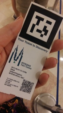 Ticket to Petronas Towers