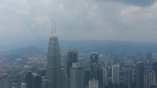 View of Petronas Towers from KL Tower