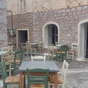 Areopoli courtyard