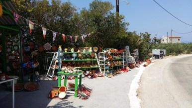 Ceramic shop in Diros