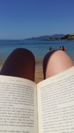 Reading on Stoupa beach