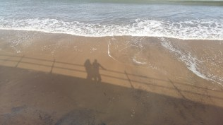 Whitby beach shadows