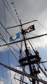 Whitby boat trip pirate flag