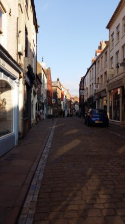 Whitby cobbled street