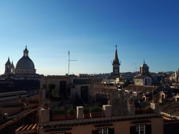 Hotel Antica Dimora del Cinque Lune Rome breakfast terrace view