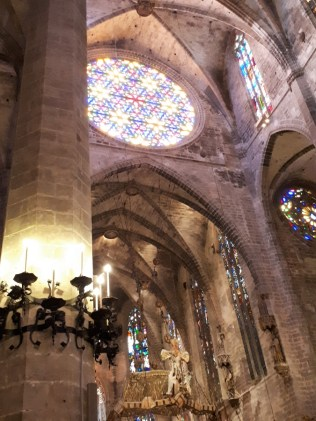 Inside Palma cathedral