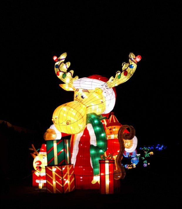 Birmingham Magic Lantern Festival - reindeer and presents