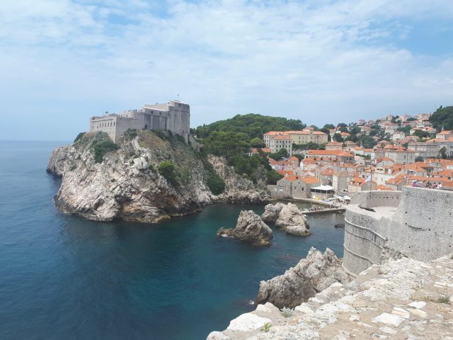 View of Fort Lovrijenac from Dubrovnik City Walls