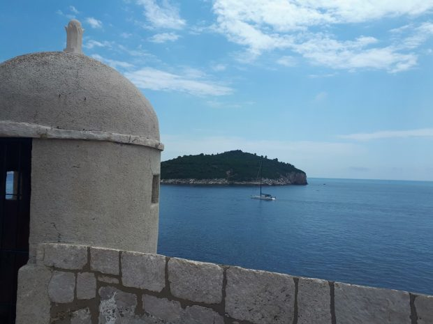 View of Lokrum Island from Dubrovnik City Walls
