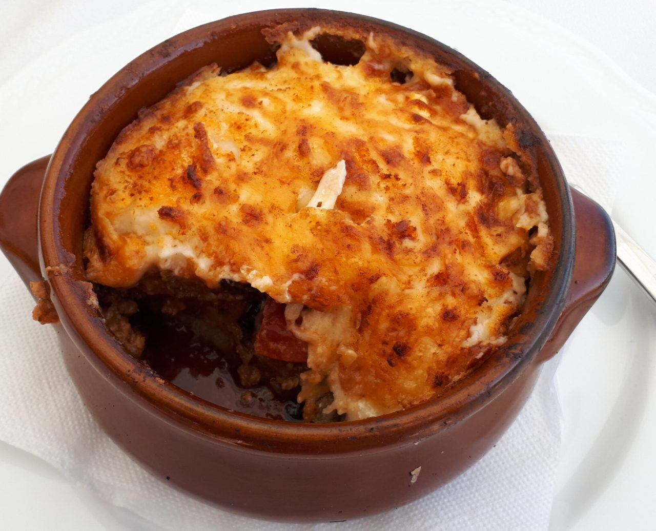 Traditional Moussaka In Stoupa