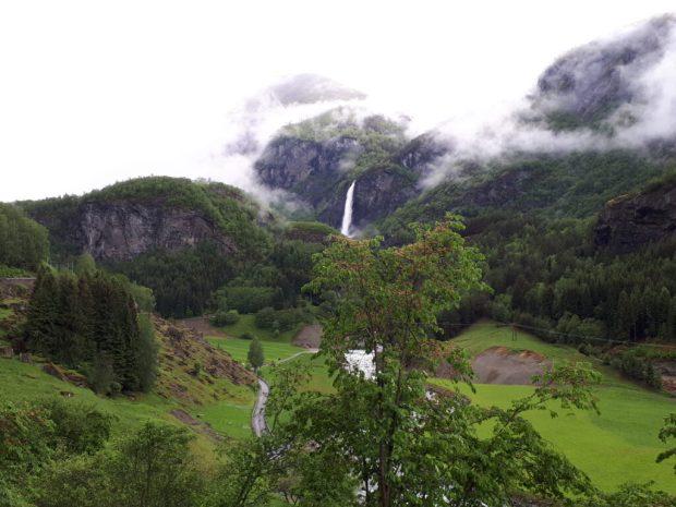 Waterfall from Flam Railway