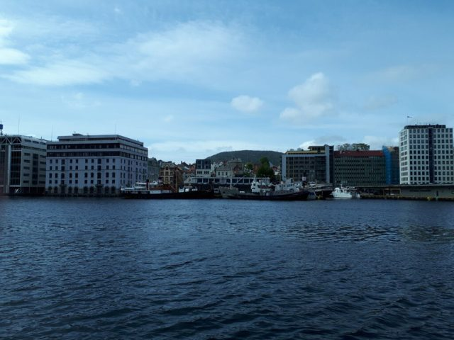 View across bergen harbour