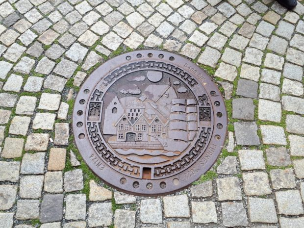 Bryggen street manhole cover