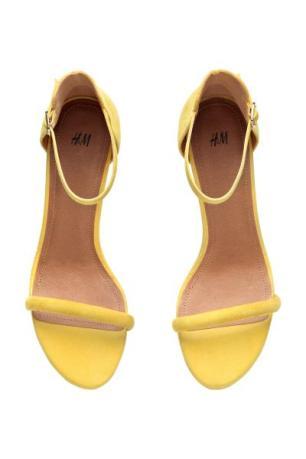 Yellow H&M suede heels 1