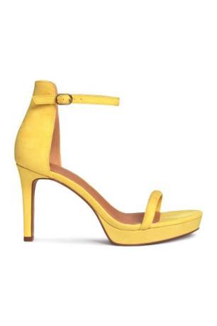 Yellow H&M suede heels