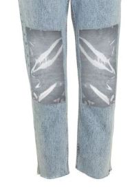 Topshop clear knee jeans 3