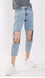 Topshop clear knee jeans