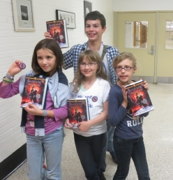 All of us with our books!