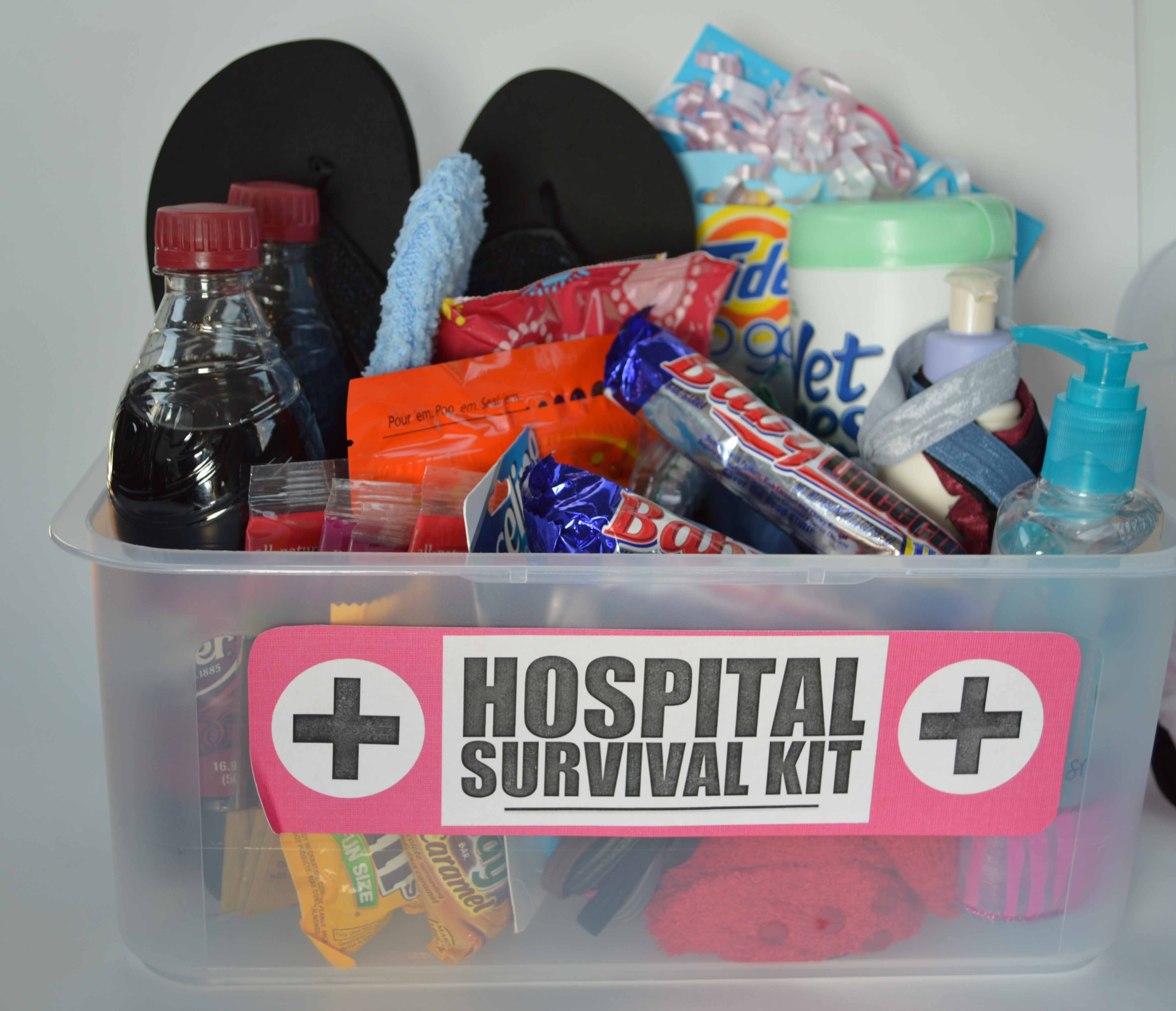 Hospital Survival Kit Baby Shower Gift  This  That  a little bit of craft
