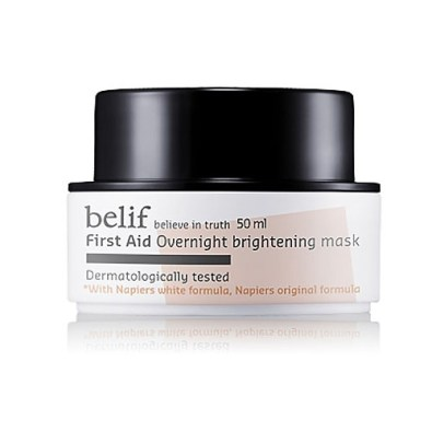 belif first air overnight brightening mask beauty products