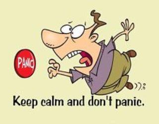 keep calm and don't panic hoard