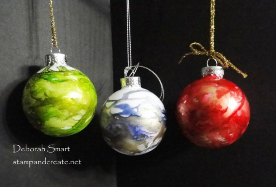 Alcohol Ink Tree Baubles