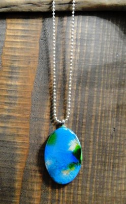 Wearable Art - Oval Bisque Pendant