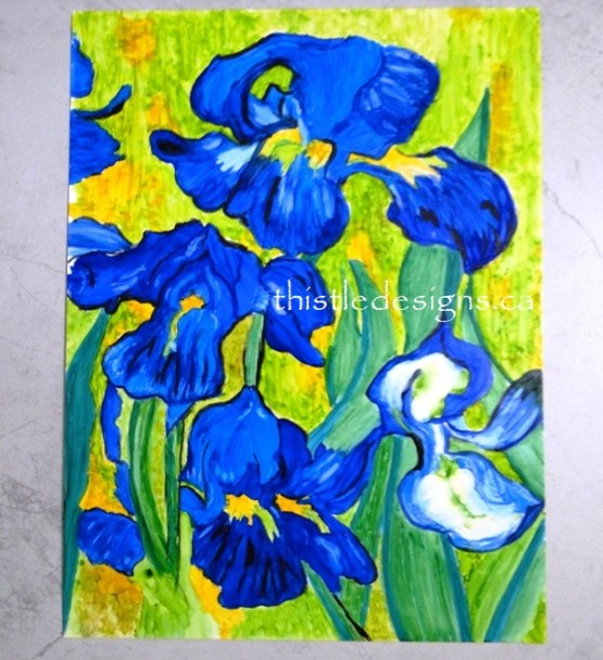Big Reveal - Van Gogh Inspired Irises