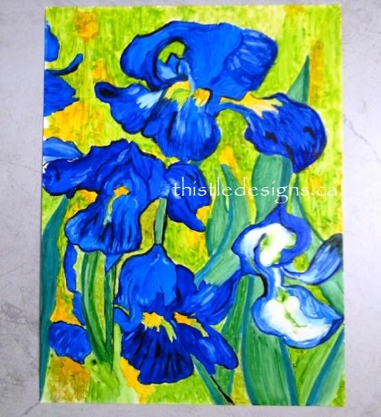 Big Reveal - Van Gogh Inspired Irises