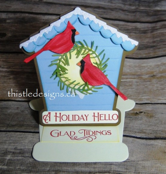 Bird House Easel Card