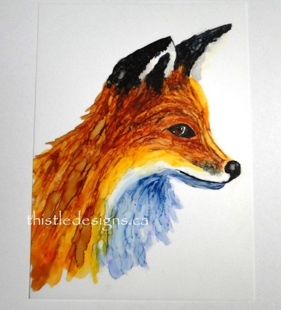 One Fox, Two Different Paintings