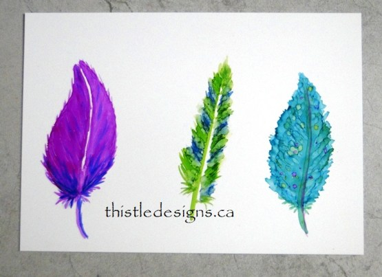 Alcohol Ink Feathers