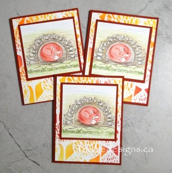 Cozy Fox Cards