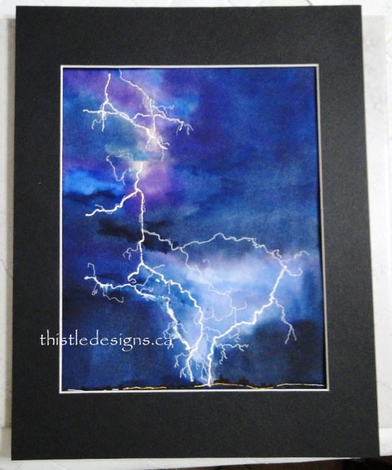 Lightening Strike Painting