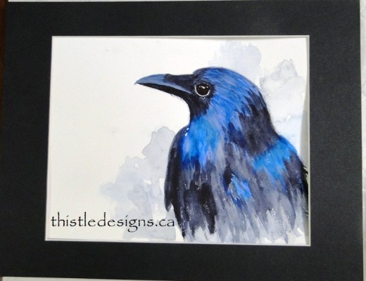 Thoughtful Raven