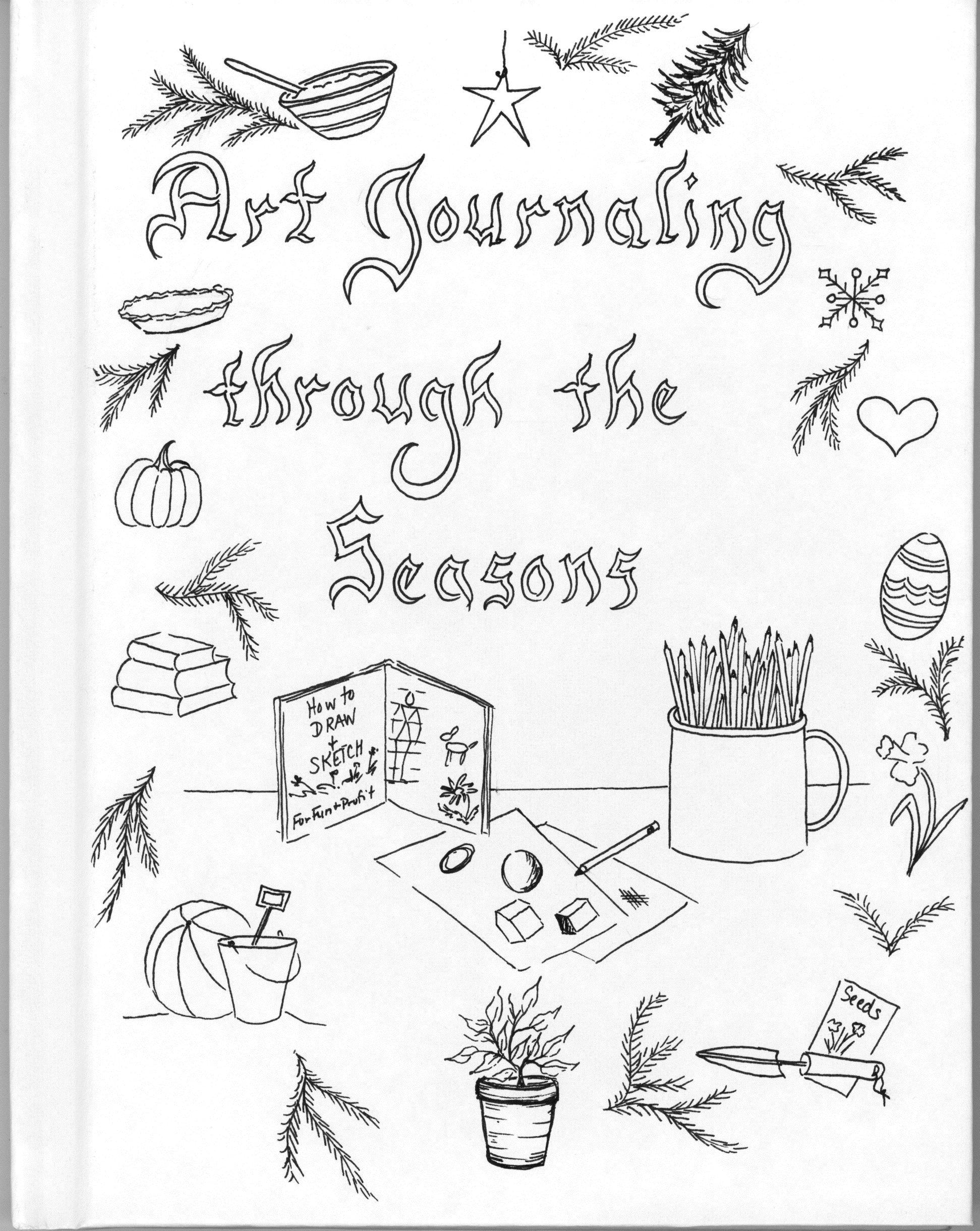Heart art journal page by Jill Wheeler featuring Scrap
