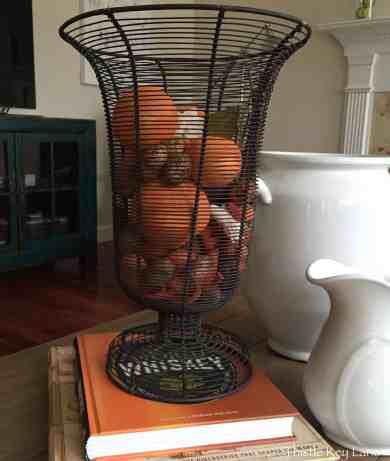 Orange vase filler