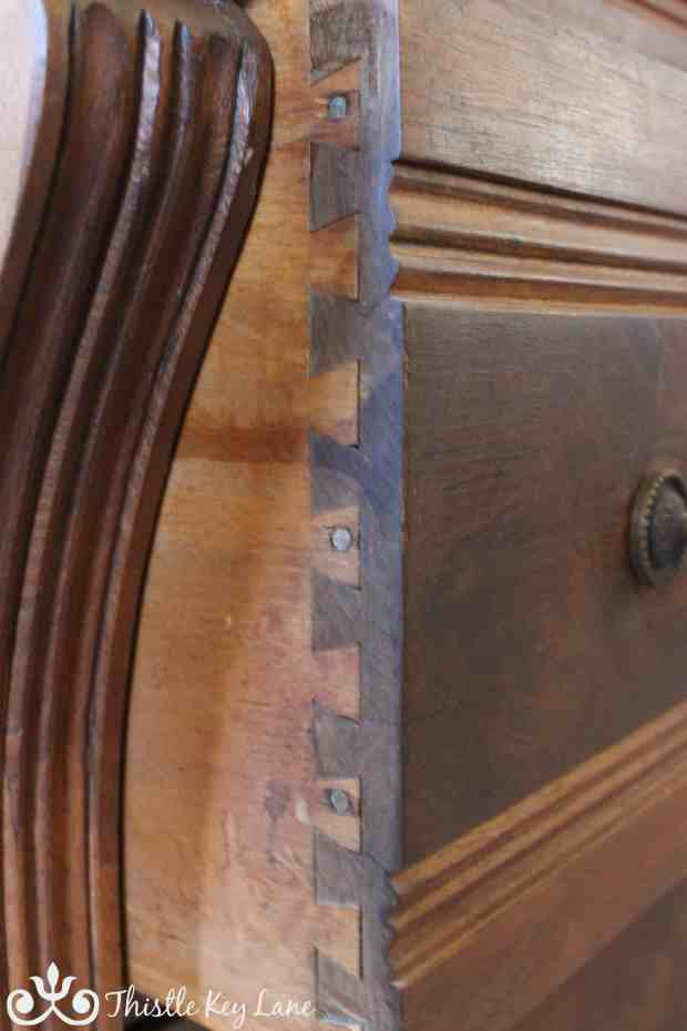 Side view of drawer