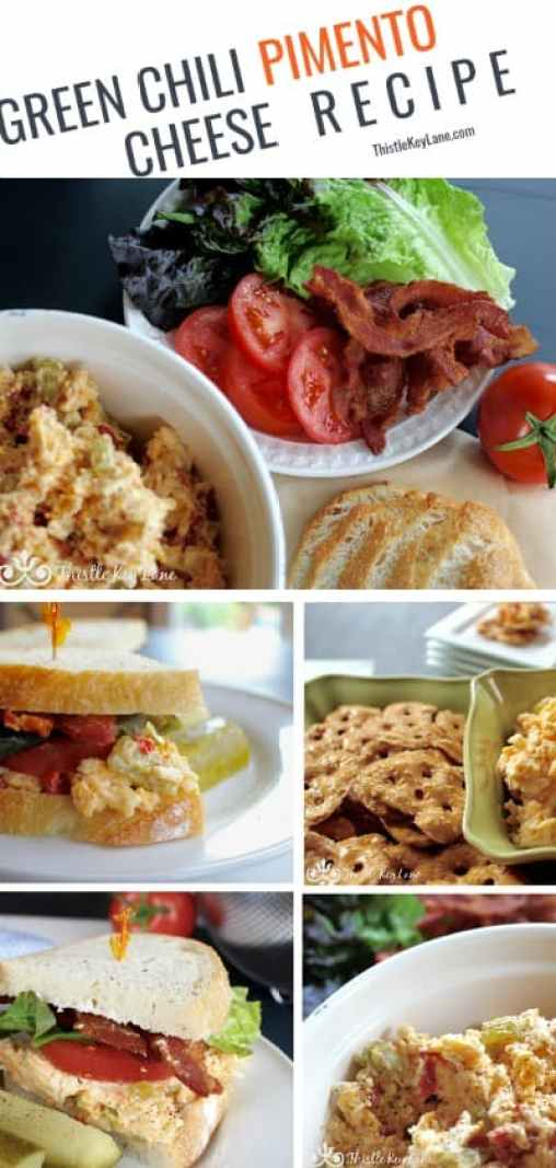 Green chili pimento cheese recipe. #pimentocheese #pimentocheeserecipe