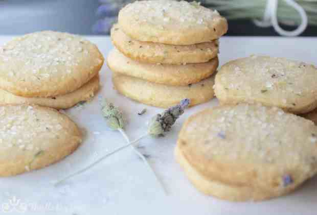 Decorating Sugar on Lavender Shortbread