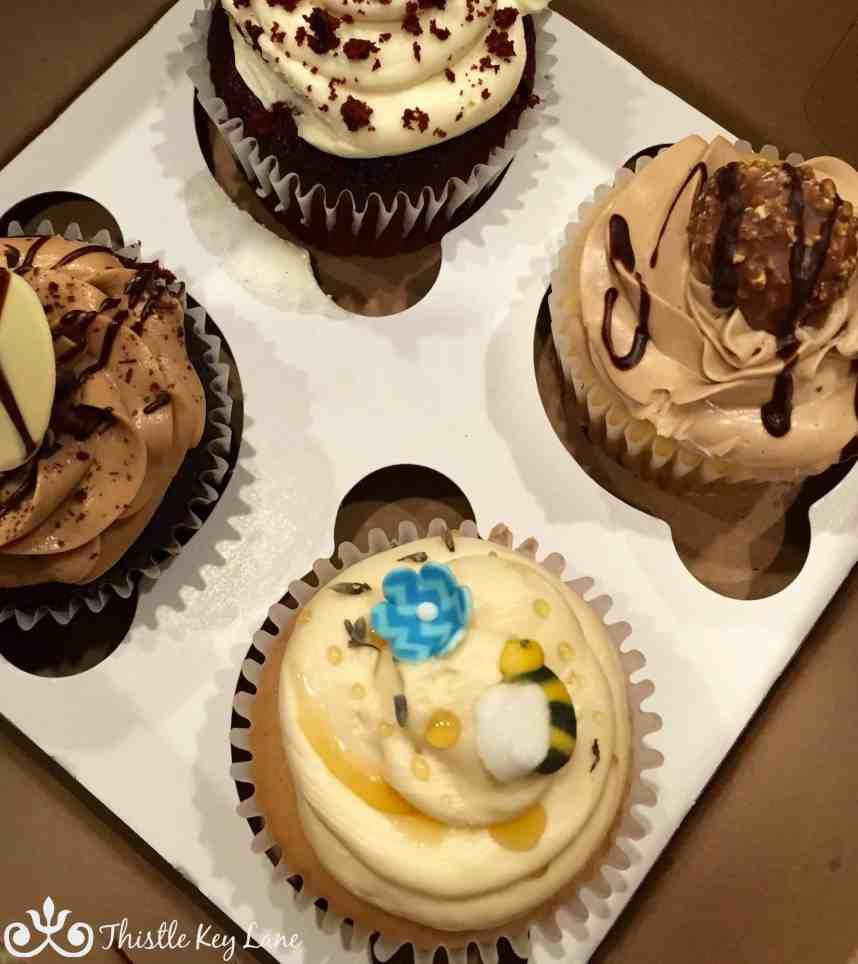 Honey Lavender, Nutella, Red Velvet and Tripple Chocolate Cupcakes